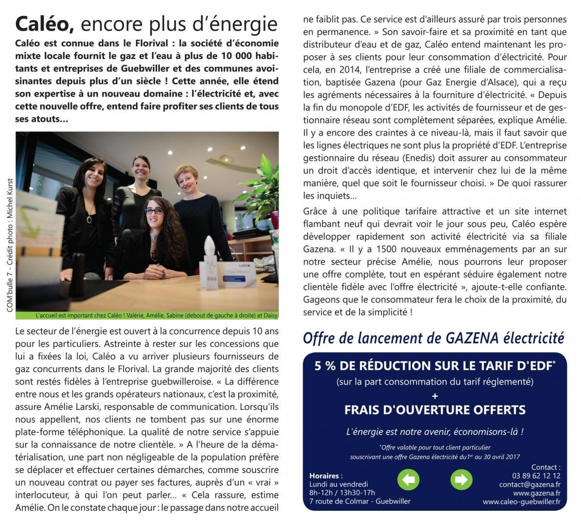 Caléo, fournisseur d'électricité